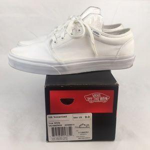 Vans106 Vulcanized White Men'Shoes Sneakers Sizes9